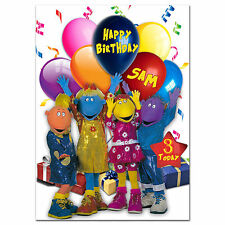 746; Large Personalised Birthday card; Tweenies; for any name age; to little