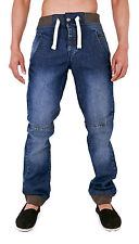 MENS DENIM CUFFED JOGGER JEANS ELBA 28 30 32 34 36 38 40 42 44 46 48