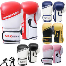 Rex Leather Boxing Gloves Fight Punch Bag Training Muay Thai Grappling Pad MMA