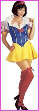 Women Halloween Snow White Fairy Tale Fancy Dress Outfit Costume Size 8-14