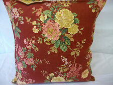 2 NEW CUSHION COVERS IN  LAURA ASHLEY STOWE RASPBERRY