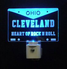 "Cleveland Ohio License Plate LED Night Light -Gift 3/8"" Acrylc"