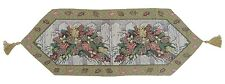 DaDa Bedding Holiday Christmas White Fence Floral Tapestry Placemat Table Runner
