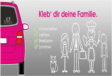 My Family Car Windows Sticker Stick Figure Family dad mum girl boy Decal labels