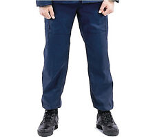 Mens SWAT cloth Rip-stop BDU PANTS Rothco 6306 BLUE Tactical CARGO Cotton Blend