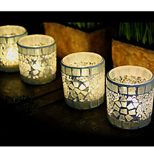 Mosaic Glass Candle Holder Fashion Tealight Candlestick Home Party Wedding Decor