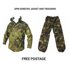 DPM GORETEX SET - JACKET AND TROUSERS - USED - WATERPROOF SET - BRITISH ARMY