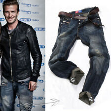 Fashion Casual Mens Stylish Designed Straight Slim Fit Jeans Trousers Jean Pants