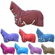 Horse Riding Winter No Fill Lightweight Turnout Full Neck Waterproof Rug 4'0-7'3