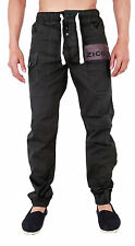 MENS DENIM CUFFED JOGGER JEANS SHAF 28 30 32 34 36 38 40 42 44 46 48