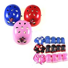 Knee Elbow Wrist Protective Guard Pad Kid Child Skating inline Gear & Helmet Kit