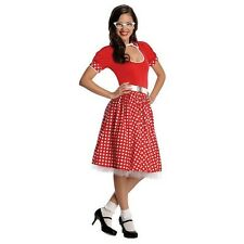 Womens Co-Ed 1950s Costume Retro 50s Decade Rockabilly Fancy Dress Party Outfit