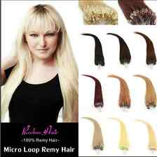 7A 50S 18-26Inch Micro Ring Loop Beads Tipped Remy Human Hair Extensions