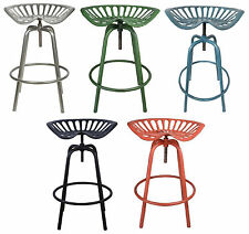 Tractor Seat Adjustable Height Bar Stool Vintage Swivel Chair Kitchen Dining