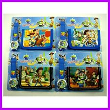 Toy Story Buzz & Woody Children's Kids Boy Wrist Watch Wallet Christmas Gift SET