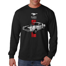 Ford Mustang 50 Years Boss 302 Distressed Hot Rat Rod Long Sleeve T-Shirt Tee
