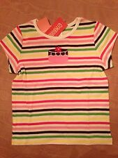 NWT Gymboree Tea for Two Striped SS Top with Cake Applique Sz 5 or 6