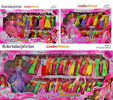 Beautiful Barbie Doll Play Set Roll Play Dress Up Princess Child Girl Toy Gift