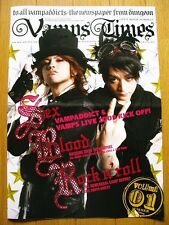 Vamps Times Vol.1 JAPAN Official Fan Club Limited Magazine HYDE K.A.Z VAMPS