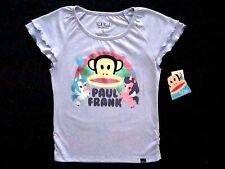 Paul Frank Girls Size 5 & Large Short Sleeve Violet Heather Graphic Top