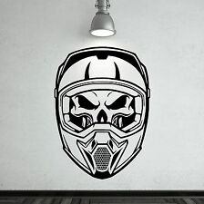 SKULL HELMET Vinyl wall art sticker decal