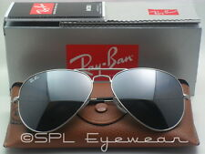 Ray Ban Aviator Silver Mirror Lens RB3025 W3277 Flash Sunglasses RB Large 58 mm