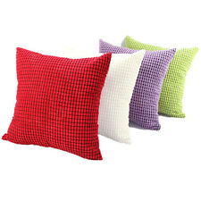 Colorful Velvet Soft Throw Pillow Case Square Cushion Covers Case Home Bed Decor