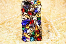 For Mobile Phone Luxury Colorful Crystals Rhinestones Gems Bling Hard Cover Case