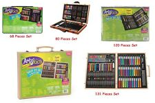 Deluxe Art Set Drawing Painting Color Marker Pastel Watercolor Plenty Artist New