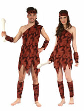 ADULT ONE SIZE #CAVEMAN CAVEWOMAN STONEAGE FANCY DRESS COSTUME PARTY OUTFIT