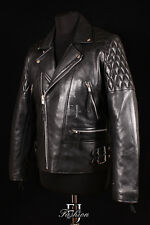 HIGHWAY BLACK (233) Mens Biker Motorcycle Real Lambskin Fashion Leather Jacket