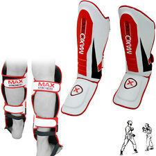 Gel Shin Instep Pads MMA Leg Foot Guards Muay Thai Kick Boxing Karate Training