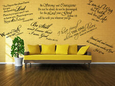 Bible Scripture vinyl Removable wall Sticker decal quote Inspiration Art