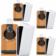 pu leather flip case cover for majority Mobile phones - guitar strings flip