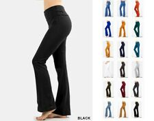 WOMENS YOGA ATHLETIC GYM CASUAL COMFY STRETCHY FOLDOVER LOUNGE PANTS S-3XL