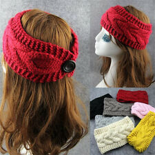 New Crochet Knitted Headband Flower Winter Women Headband Ear Warmer Headwrap