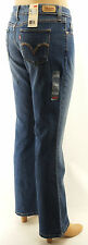 Levis 515 Boot Cut Jeans Misses Mid Rise Blue Denim