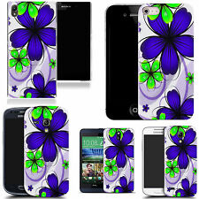 silicone gel cover for majority Mobile phones - daisy blue bunch silicone
