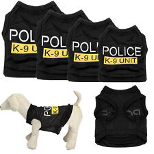 Fashion Dog Vest Police Puppy T-Shirt Coat Pet Clothes Summer Apparel Costumes