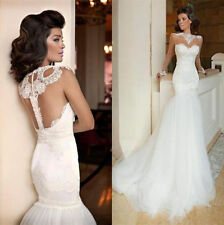 New Style 2017 Mermaid Wedding Dresses Backless Long Sleeve Wedding Bridal gown