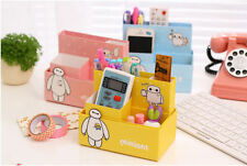 Cartoon Paper Storage Box Stand Holder for Remote Control Facial Cleanser Office