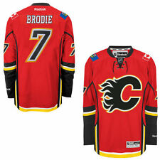 TJ BRODIE Calgary FLAMES Reebok Premier Officially Licensed NHL Jersey,