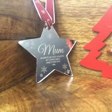 Mirror Personalised Christmas Tree Decoration Bauble