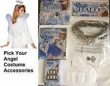 Angel Wings and Halo Kit , Earrings, Garter, Halo and Nails Costume Accessories