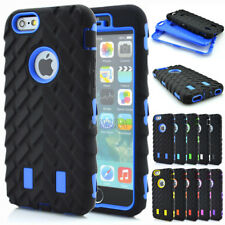 Hybrid Impact Soft Rubber Hard Plastic Combo Shockproof Rugged Case For iPhone