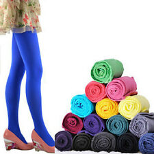 120D Warm Soft  Footed Thick Opaque Stockings Pantyhose Solid Color Tights