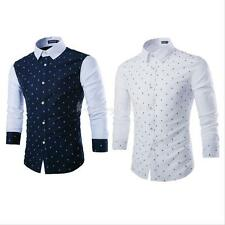 Trendy Mens Casual Button Down Slim Fit Long Sleeve Casual/Formal Dress Shirts