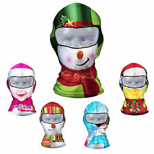 Xmas Holiday Cycling Ski Neck protecting Outdoor lycra Balaclava Full Face Mask