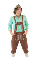 Adult Mens Drinking Holiday Oktoberfest German Bavarian Lederhosen Costume Pants