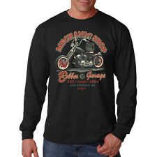 Machanic Shop Bobber Garage Custom Motorcycles Biker Long Sleeve T-Shirt Tee
